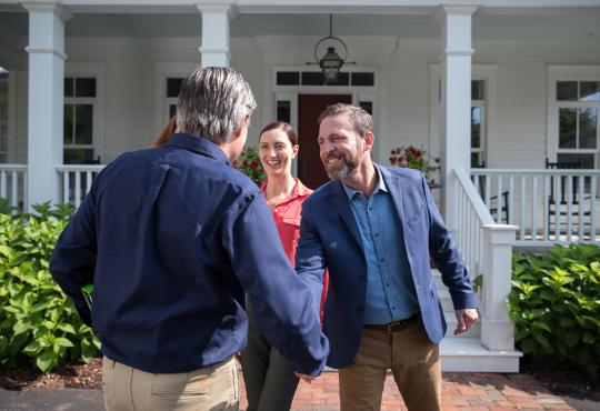 Greeting homeowners