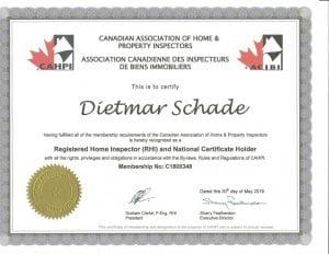 Dietmar Schade Certification