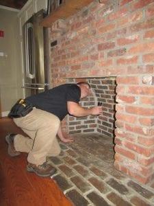 fireplace inspection