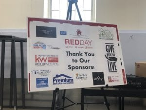 Red day is for helping to rebuild the community