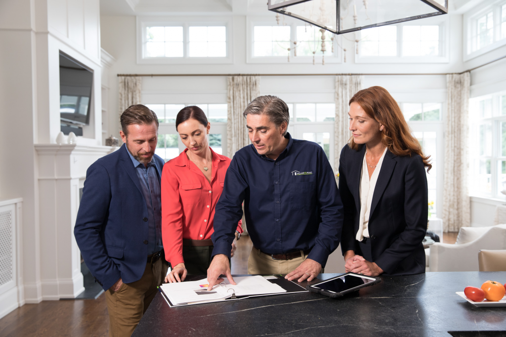 Homebuyers, Home Inspector, and Real Estate Agent