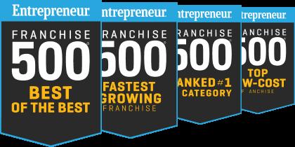Entreprenuer Franchise 500 badges
