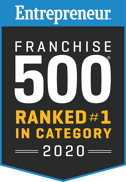Entrepreneur Franchie 500 - Ranked #1 in Category - 2020