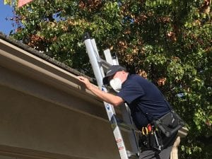 Jay Engel performing a home inspection