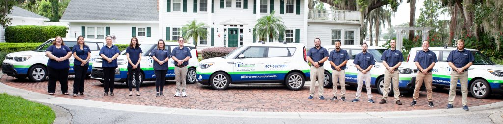 Jeff Mackey Pillar To Post home inspection Team with vehicles